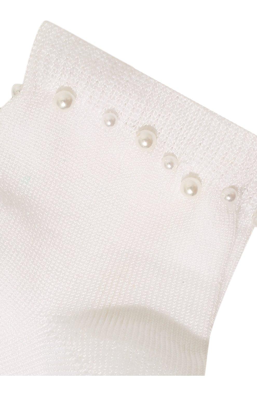 Детские хлопковые носки LA PERLA белого цвета, арт. 42045/1-2 | Фото 2