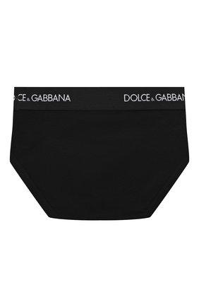 Детские комплект из двух хлопковых трусов DOLCE & GABBANA черного цвета, арт. L4J700/G70CT | Фото 3