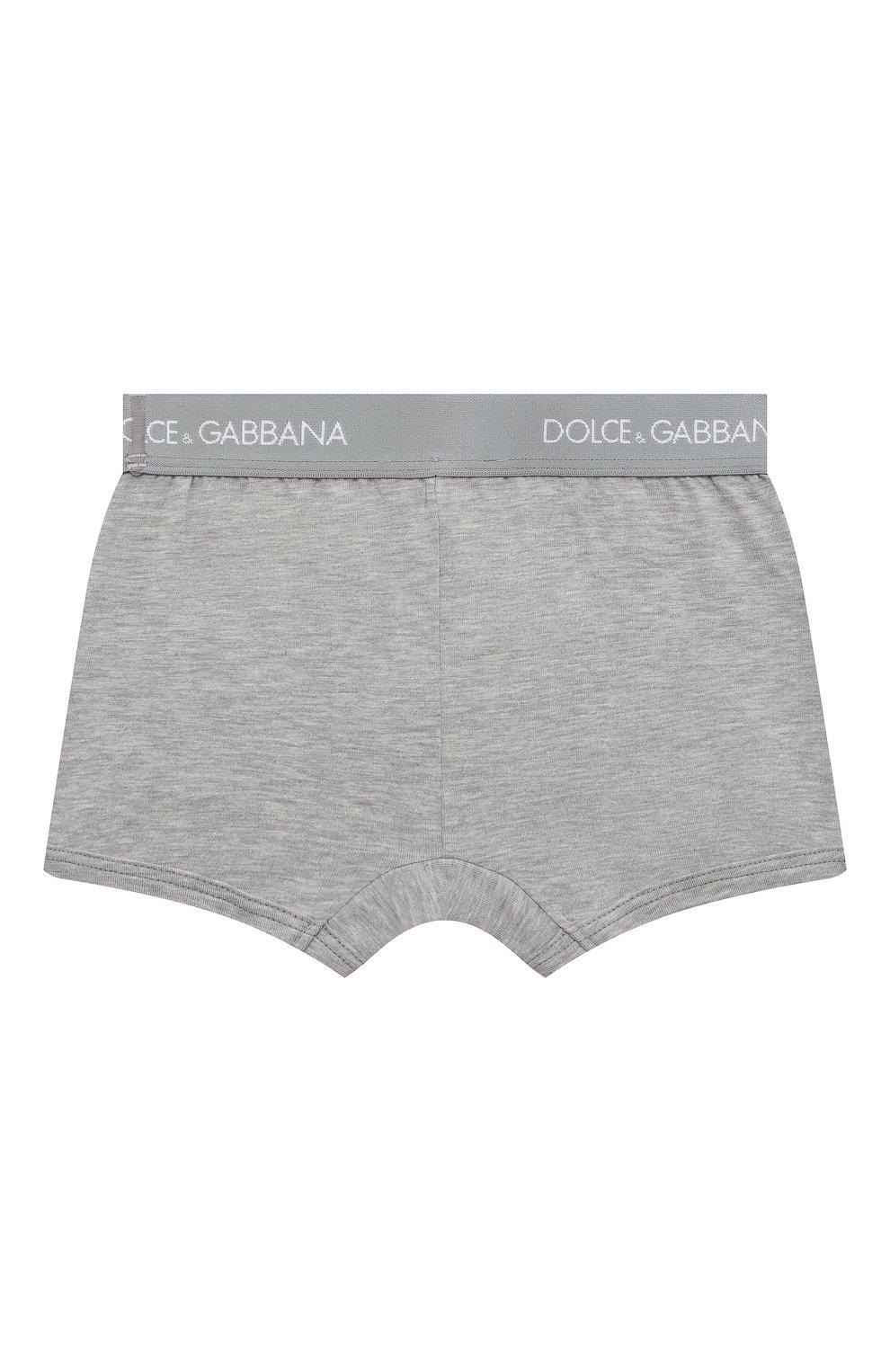 Детские комплект из двух хлопковых трусов DOLCE & GABBANA серого цвета, арт. L4J701/G70CT | Фото 3
