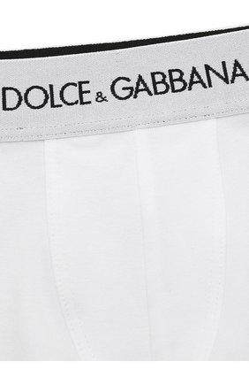 Детские комплект из двух хлопковых трусов DOLCE & GABBANA белого цвета, арт. L4J701/G70CT   Фото 3