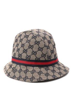 Детская шляпа GUCCI светло-коричневого цвета, арт. 411790/4HD09 | Фото 2