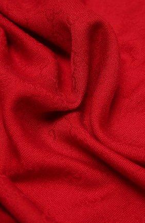 Детский платок из шерсти и шелка GUCCI красного цвета, арт. 418221/4K646 | Фото 2