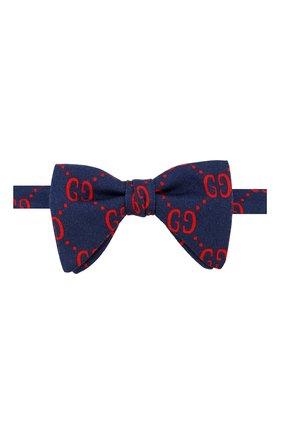 Детский галстук-бабочка из шерсти и шелка GUCCI синего цвета, арт. 532265/4K515 | Фото 1