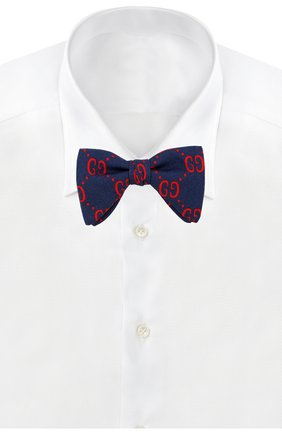 Детский галстук-бабочка из шерсти и шелка GUCCI синего цвета, арт. 532265/4K515 | Фото 2