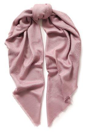 Женский платок из смеси шерсти и шелка EMILIO CONTE розового цвета, арт. K01414 J2317 | Фото 1