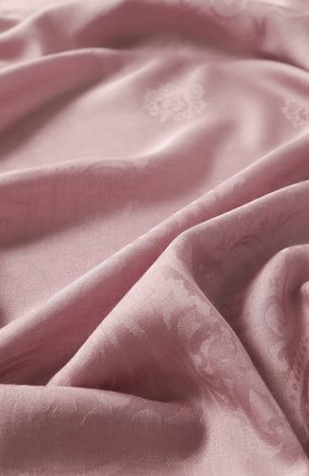 Женский платок из смеси шерсти и шелка EMILIO CONTE розового цвета, арт. K01414 J2317 | Фото 2
