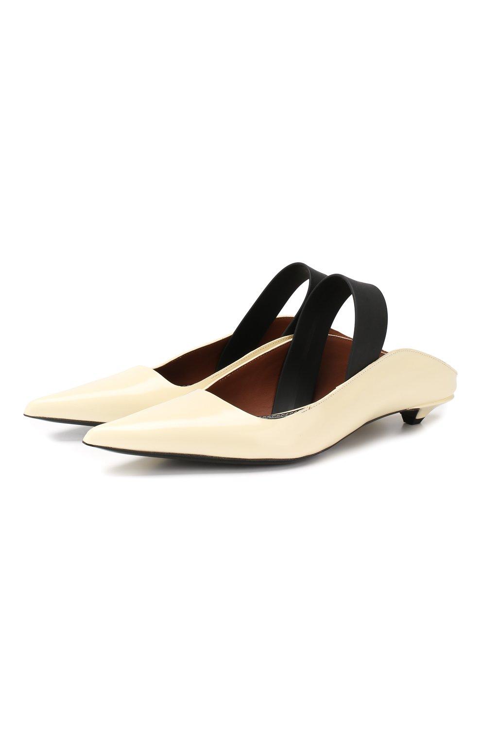 Женские кожаные туфли PROENZA SCHOULER кремвого цвета, арт. PS30196/7333   Фото 1