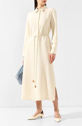 Женские кожаные туфли PROENZA SCHOULER кремвого цвета, арт. PS30196/7333   Фото 2
