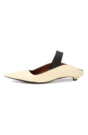 Женские кожаные туфли PROENZA SCHOULER кремвого цвета, арт. PS30196/7333   Фото 3