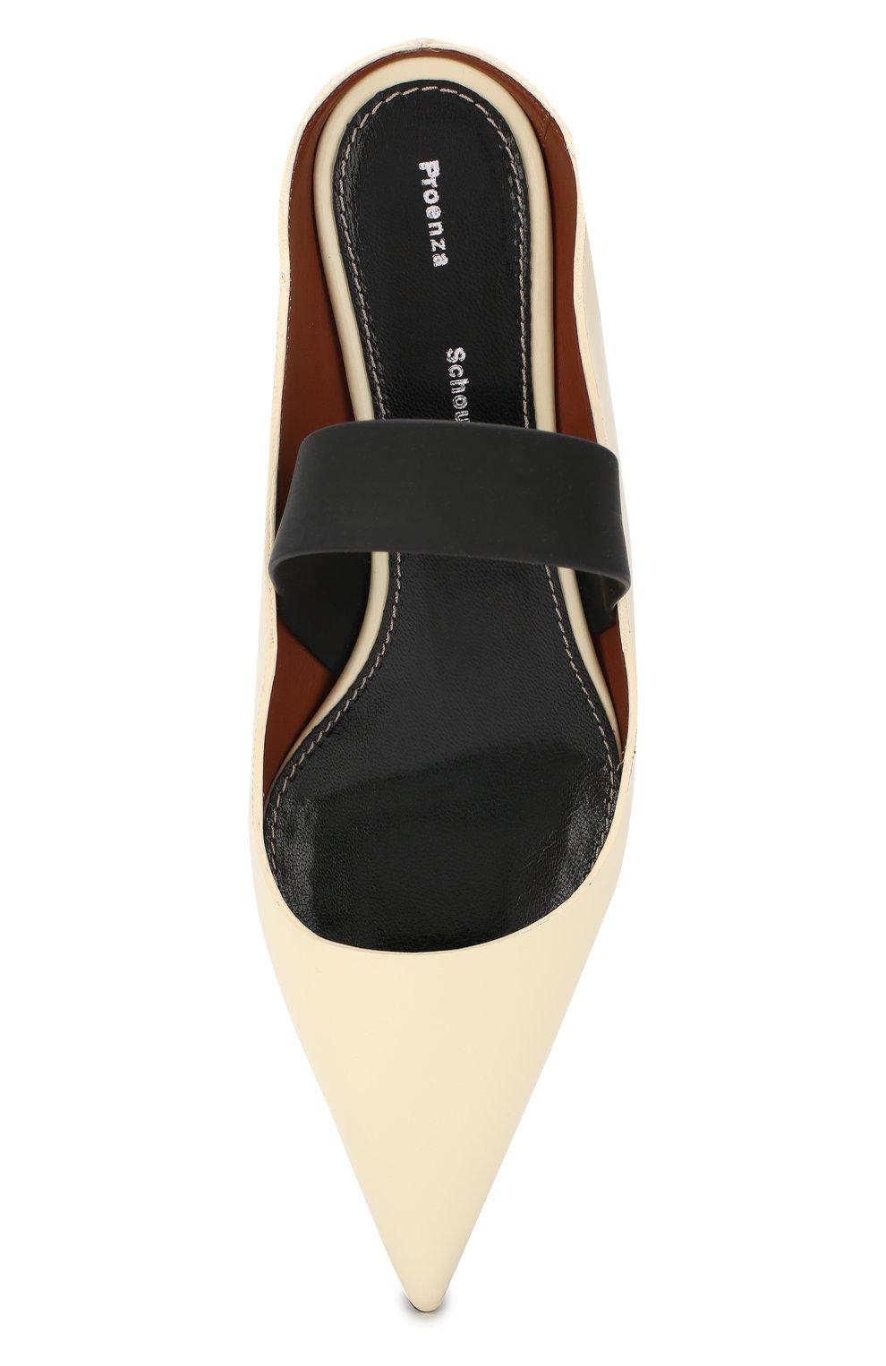 Женские кожаные туфли PROENZA SCHOULER кремвого цвета, арт. PS30196/7333   Фото 5