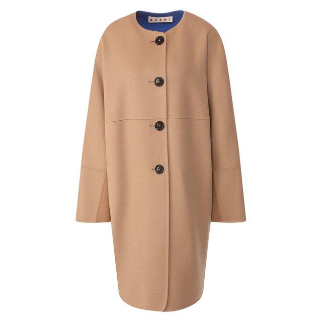 Пальто из смеси шерсти и кашемира Marni