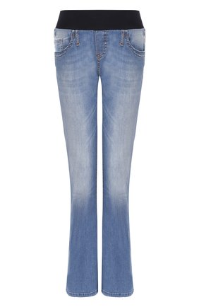 Женские джинсы с эластичным поясом PIETRO BRUNELLI синего цвета, арт. JP0013/DE0079 | Фото 1