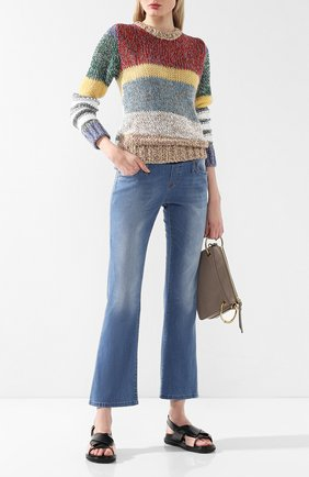 Женские джинсы с эластичным поясом PIETRO BRUNELLI синего цвета, арт. JP0013/DE0079 | Фото 2