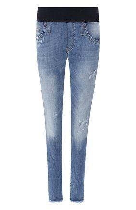 Женские джинсы с эластичным поясом PIETRO BRUNELLI голубого цвета, арт. JP0043/DE0001 | Фото 1