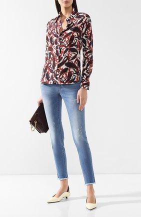 Женские джинсы с эластичным поясом PIETRO BRUNELLI голубого цвета, арт. JP0043/DE0001 | Фото 2