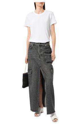 Женская хлопковая футболка JAMES PERSE белого цвета, арт. WLJ3114 | Фото 2