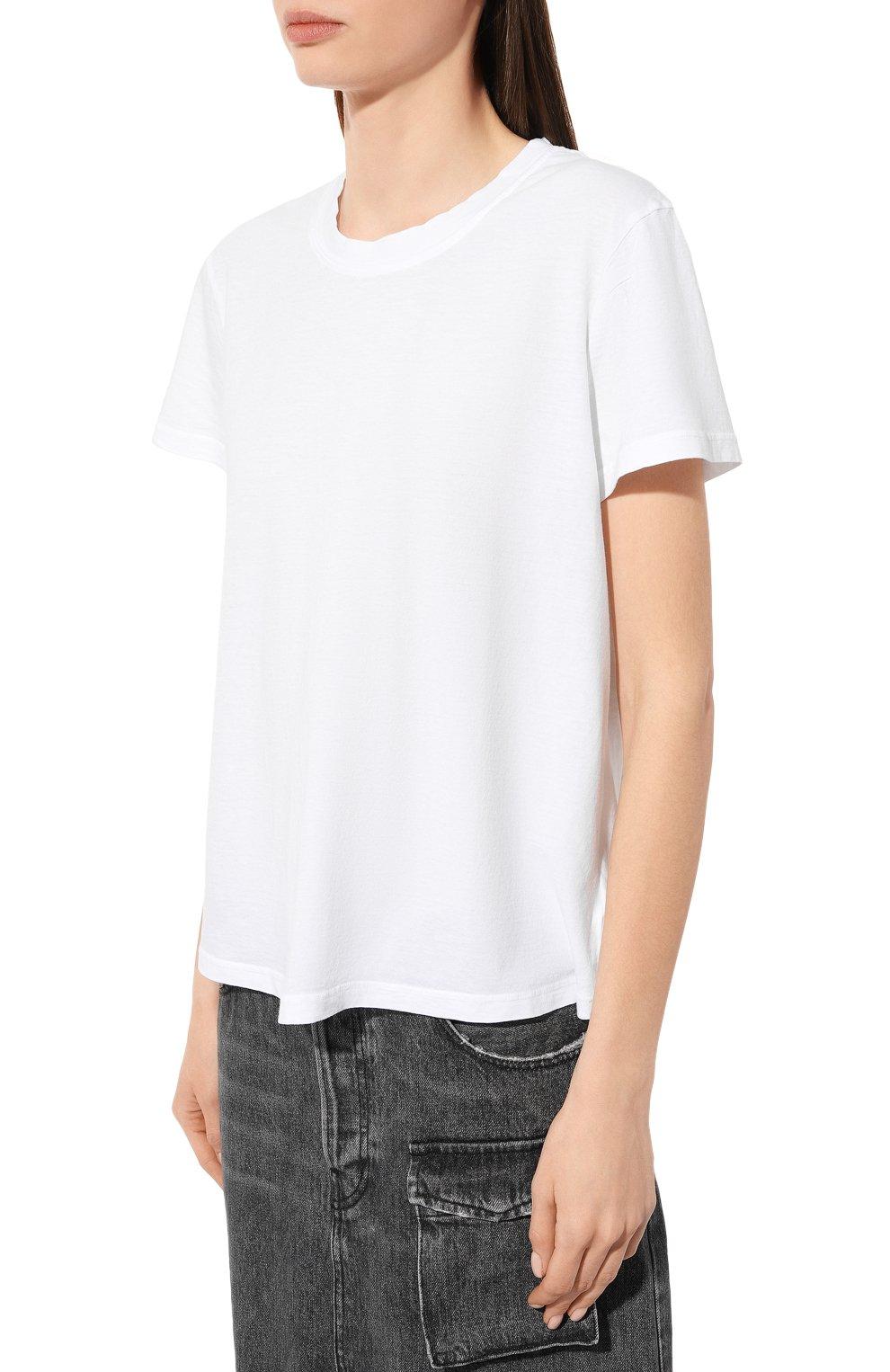 Женская хлопковая футболка JAMES PERSE белого цвета, арт. WLJ3114 | Фото 3
