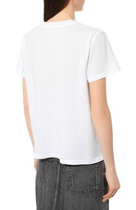 Женская хлопковая футболка JAMES PERSE белого цвета, арт. WLJ3114 | Фото 4
