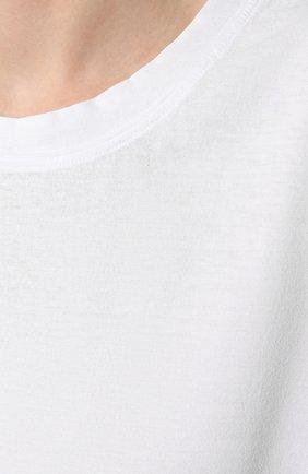 Женская хлопковая футболка JAMES PERSE белого цвета, арт. WLJ3114 | Фото 5