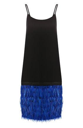 Платье с перьевой отделкой   Фото №1