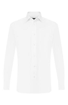 Мужская хлопковая сорочка с воротником кент ERMENEGILDO ZEGNA белого цвета, арт. 504001/9MS0PA | Фото 1