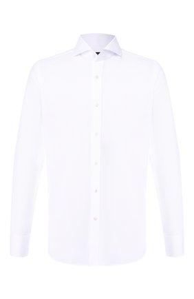 Мужская хлопковая сорочка с воротником акула TOM FORD белого цвета, арт. 5FT190/94F1FE | Фото 1