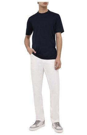 Мужская хлопковая футболка CANALI темно-синего цвета, арт. T0356/MJ00002 | Фото 2