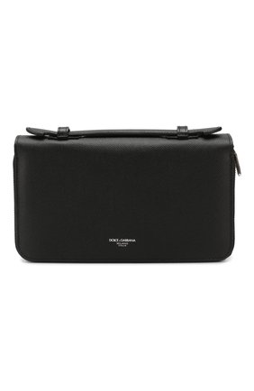 Мужская кожаный футляр для документов business travel DOLCE & GABBANA черного цвета, арт. BP2220/AZ601 | Фото 1