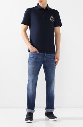 Мужские джинсы прямого кроя BILLIONAIRE синего цвета, арт. B19C MDT1345 BTE001N | Фото 2