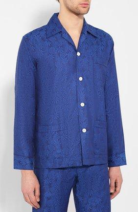 Мужская хлопковая пижама DEREK ROSE темно-синего цвета, арт. 5000-PARI015 | Фото 2