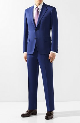 Мужской шерстяной костюм BRIONI синего цвета, арт. RAI30U/P4AHX/PARLAMENT0 | Фото 1