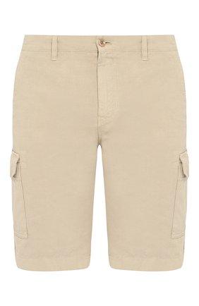 Мужские шорты из смеси хлопка и льна LORO PIANA бежевого цвета, арт. FAI6469 | Фото 1
