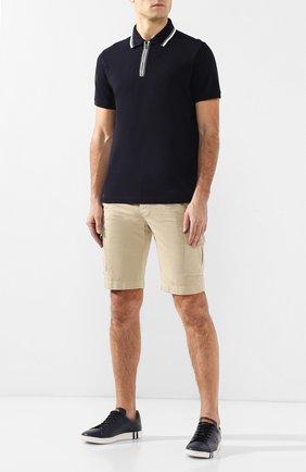 Мужские шорты из смеси хлопка и льна LORO PIANA бежевого цвета, арт. FAI6469 | Фото 2