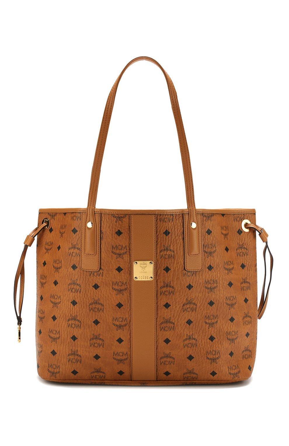 Женская сумка-тоут project MCM коричневого цвета, арт. MWP 7AVI22   Фото 1