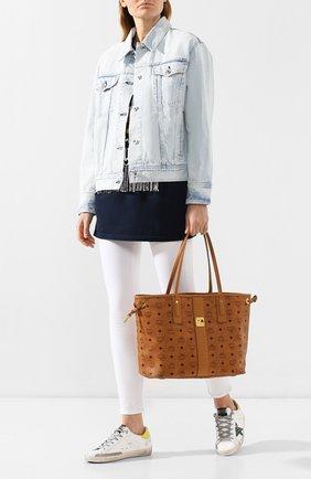 Женская сумка-тоут project MCM коричневого цвета, арт. MWP 7AVI22   Фото 2