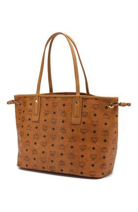 Женская сумка-тоут project MCM коричневого цвета, арт. MWP 7AVI22   Фото 3