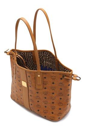 Женская сумка-тоут project MCM коричневого цвета, арт. MWP 7AVI22   Фото 4