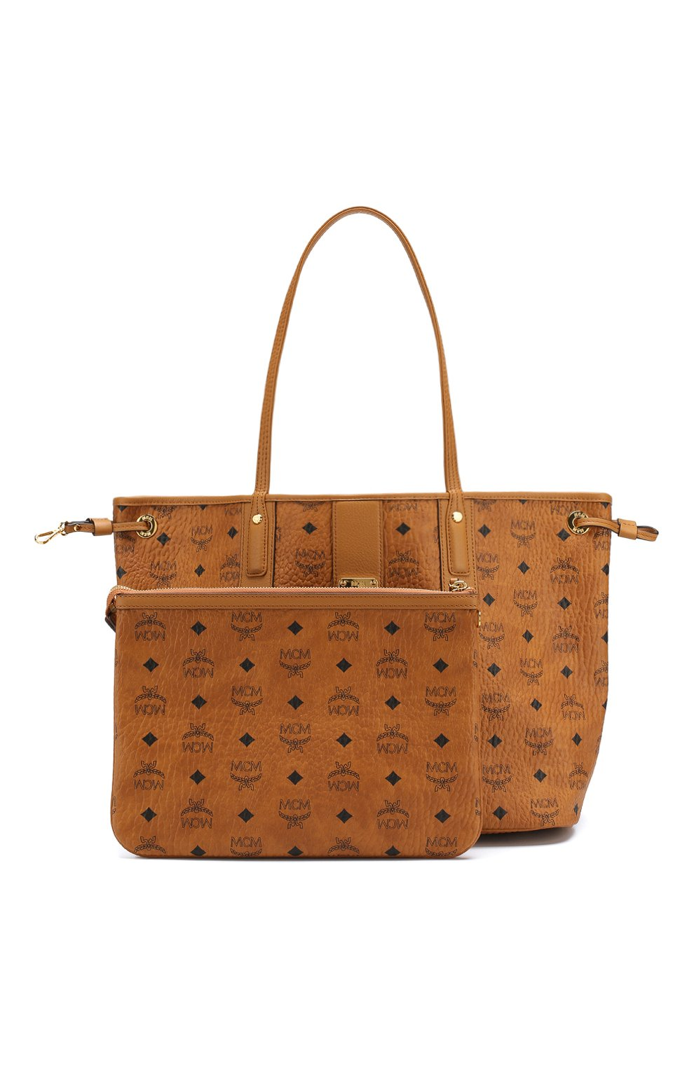 Женская сумка-тоут project MCM коричневого цвета, арт. MWP 7AVI22   Фото 5
