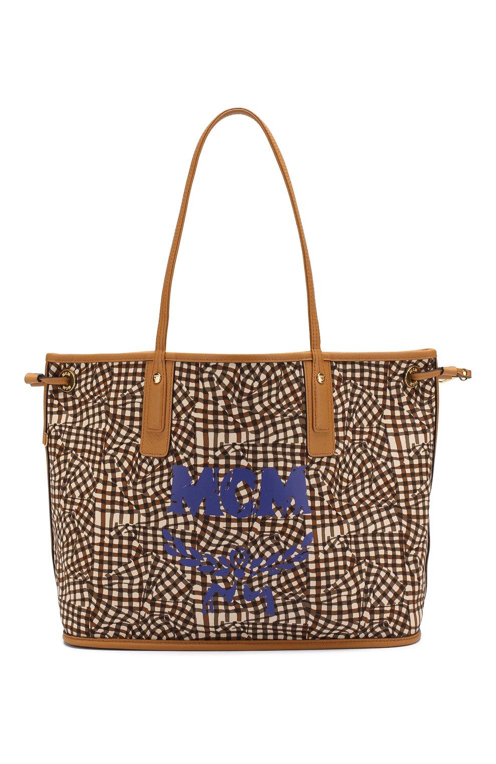 Женская сумка-тоут project MCM коричневого цвета, арт. MWP 7AVI22   Фото 6