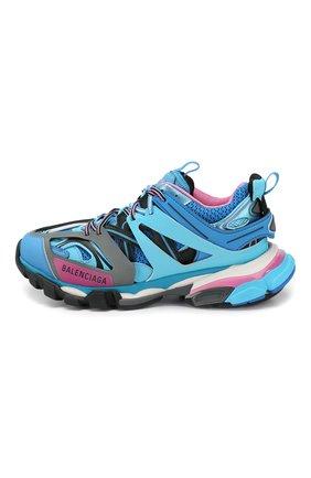 Текстильные кроссовки Track Balenciaga голубые | Фото №3