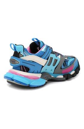Текстильные кроссовки Track Balenciaga голубые | Фото №4