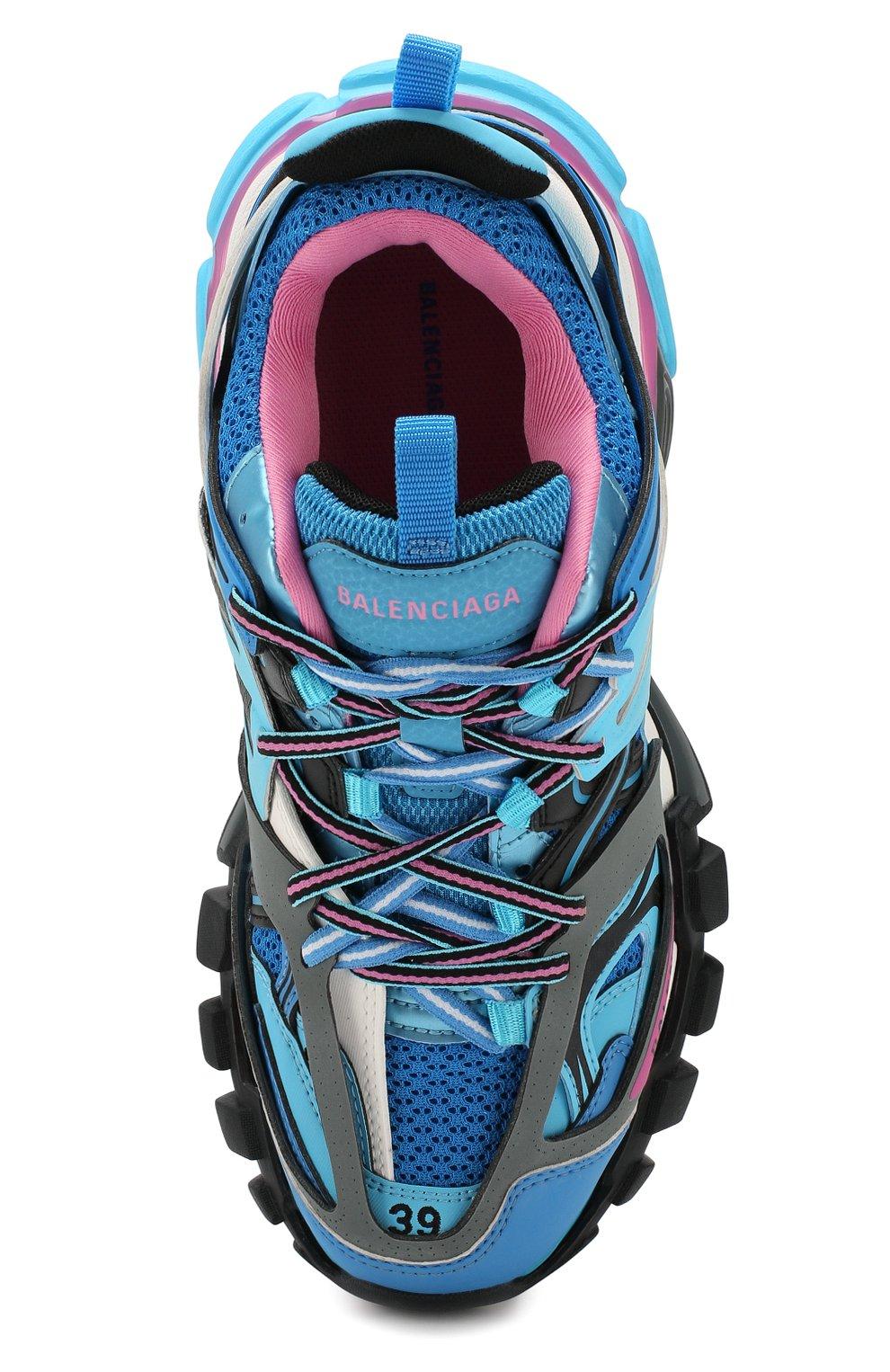 Текстильные кроссовки Track Balenciaga голубые | Фото №5