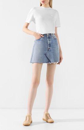 Женская джинсовая юбка RE/DONE голубого цвета, арт. 1012HSKM/INDIG0 | Фото 2