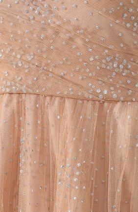 Платье с бантом REDVALENTINO бежевое | Фото №5