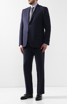 Мужской шерстяной костюм  CANALI темно-синего цвета, арт. 11220/10/BF00267/60-64   Фото 1