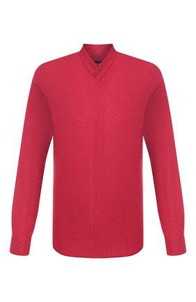 Мужская льняная рубашка GIORGIO ARMANI красного цвета, арт. 9SGCCZ12/TZ256 | Фото 1