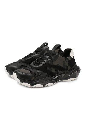 Мужские комбинированные кроссовки valentino garavani bounce VALENTINO черного цвета, арт. RY0S0B05/VMU | Фото 1