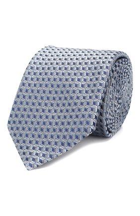Мужской шелковый галстук CORNELIANI синего цвета, арт. 83U390-9120324/00   Фото 1