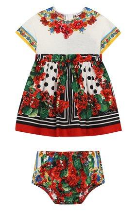 Женский комплект из хлопкового платья и шорт DOLCE & GABBANA разноцветного цвета, арт. L2JDZ1/G7RBR | Фото 1