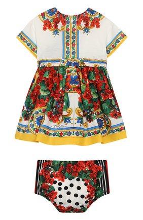 Женский комплект из хлопкового платья и шорт DOLCE & GABBANA разноцветного цвета, арт. L2JDZ1/G7RBR | Фото 2